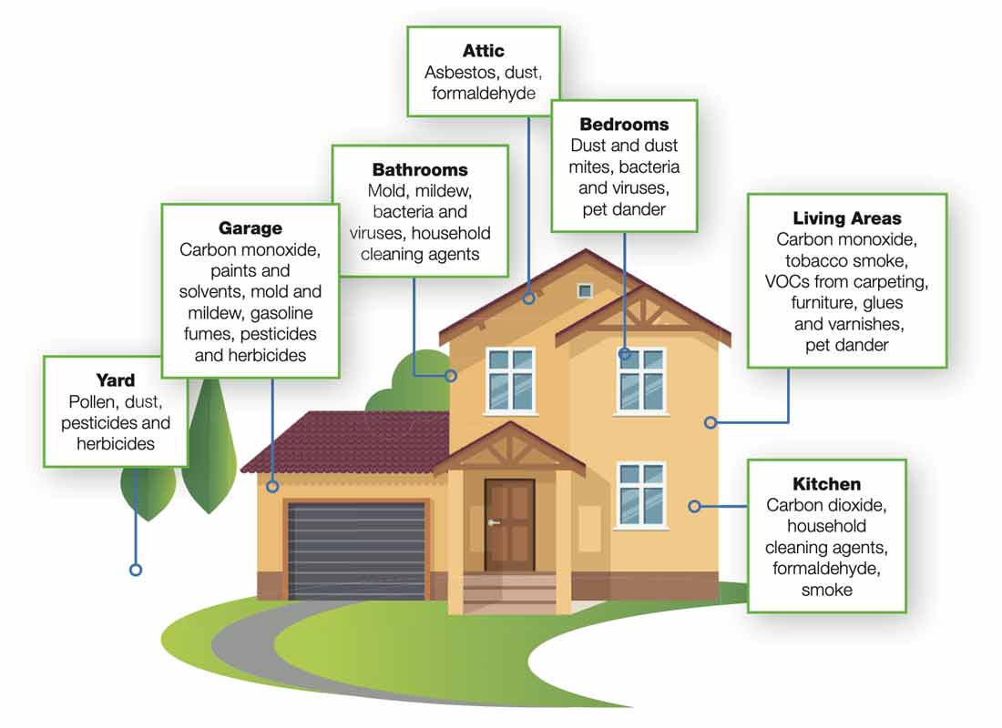 Air impurities in your home.