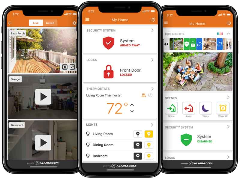 Security, Video & Home Automation app by Alarm.com.